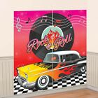 50s 1950s Rock and Roll Car Wall Scene Setter Party Banner Decorations Adult