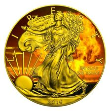 ARMAGEDDON EAGLES – 2016 American Silver Eagle 1 oz Coin Color and 24K Gold..
