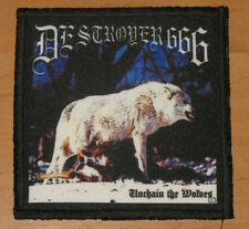"""DESTROYER 666 """"UNCHAIN THE WOLVES"""" silk screen PATCH"""