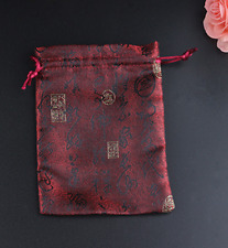 Flower Cotton Drawstring Bag Pouch Tote Bag Beam Port Bag Gift Bag Size 11*12cm1