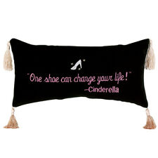 "Pillow - ""One Shoe Can Change your Life"", Cinderella - Rectangular w/tassels"