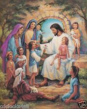 JESUS With Kids / Christian - Christianity 8 x 10 GLOSSY Photo Picture