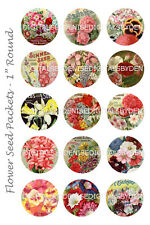 "FLOWERS BOTTLE CAP IMAGES 30 1"" CIRCLES  CUPCAKE TOPPERS BOWS"