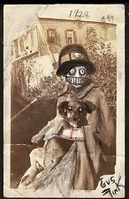 GUS FINK outsider ORIGINAL art painting goth lowbrow antique SHE LOVED ANIMALS