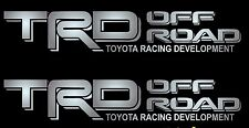 2 SILVER DECALS - TOYOTA TRD OFF ROAD GRAPHICS / Vinyl Stickers Vehicle Emblem
