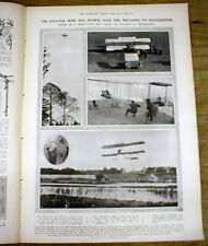1909 illustrated newspaper French flyer LOUIS PAULHAN setsEARLY AVIATION RECORDS
