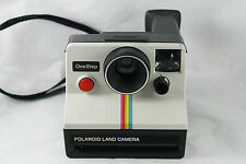Polaroid One Step Sx70 Land Camera Rainbow Instant Film Vtg 70s TESTED Working
