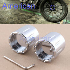 Contrast Cut Front Axle Nut Cover For Harley Sportster Dyna Softail Touring