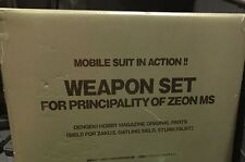 Bandai Gundam Zeon Weapon Set Gatling Gun Missile Action Figure  Msia weapon lot