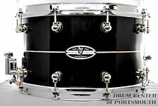 Pearl 14x8 Kapur/Fiberglass Hybrid Exotic Snare Drum - Ebony Lacquer With Pearl