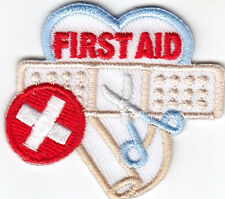 """""""FIRST AID""""  - IRON ON EMBROIDERED PATCH/Nurse, Profession, Medical, Medic"""