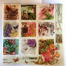 20 x Table Paper Napkin/Decoupage/Dining/Craft/Quality/Vintage Style Stamps