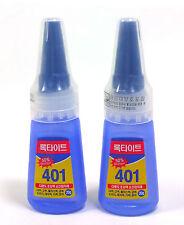 LOCTITE 401 Plastic Rubber Metal Wood Leather Instant Adhesive Super Glue 20g x2