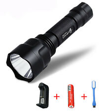 New 2200 Lumens UltraFire CREE XM-L C8 T6 LED Flashlight 18650 Torch Lamp Light