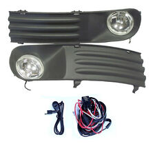 FOG LIGHTS LAMPS GRILLES SET FOR VW TRANSPORTER T5 2003-2009 & WIRING KIT