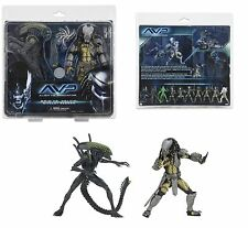 NECA aliens vs predator avp celtic predator & grid alien action figure 2 pack