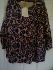 Ladies M&S Indigo collection tunic top 3/4 length  sleeves size 12 BNWT  ** ##
