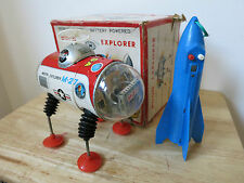 1960s MOON EXPLORER M-27 - YONEZAWA - Tin Clockwork Astronaut Space Toy Japan