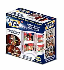 Swivel Store Spice Rack Holder Organizer Kitchen Cabinet Storage System