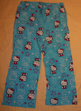Hello Kitty By Sanrio Character Pajama Pants XL Womens Blue Thin Sleepwear Nice