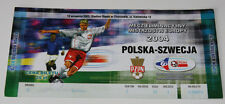 Ticket for collectors EURO q * Poland - Sweden 2003 in Chorzow