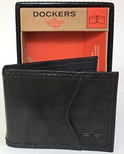 Dockers Interior Money Clip Front Pocket Card ID Case Leather Wallet New In Box