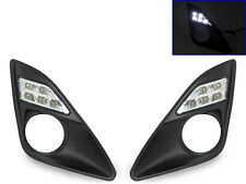 USA 2012-2014 Toyota Camry Bumper White LED Daytime Running DRL Fog Light Trim