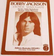 Partition vintage sheet music DIDIER MAROUANI : Bobby Jackson * 70's