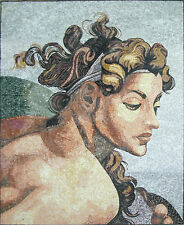 Greek Goddess Athena Mythology Art Home Marble Mosaic FG489