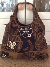 FANTASTIC COCCINELLE BROWN FLORAL PATTERNED SHOULDER BAG USED SLIGHT WEAR