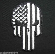 PUNISHER SKULL USA AMERICAN FLAG US ARMY MORALE BLACK OPS GLOW GITD HOOK PATCH