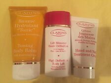 3x CLARINS HIGH DEFINITION DOBY LIFT, TONING BODY BLAM, HAND & NAIL TREATMENT