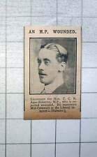 1915 Lt Col Hon Tcr Agar-robartes Reported Wounded