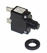 Miniature Push Button 15 Amp Circuit Breaker for DC or AC Circuits