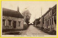 cpa RARE 89 - CHAILLEY (Yonne) Faubourg ROUTE de VAUDEVANNE Photo CHARDONNET