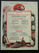 1920s advert for HMV His Master's Voice gramophones / Waring & Gillow 1923
