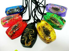 14PCS SUPER JEWELRY COOL REAL MIX SCORPIONS AMBER PENDANT MAGIC NECKLACE BW7879