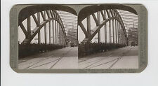 WWI Stereoview (Realistic) -New Watch on the Rhine set by Allies, Cologne Bridge