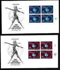 UN Geneva #90-91 Decade for Women Set (2) Artmaster MIIB4FDCs
