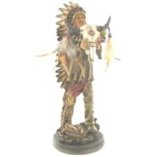 Native American Holding Skull Figurine. Gorgeous Home Decor. New