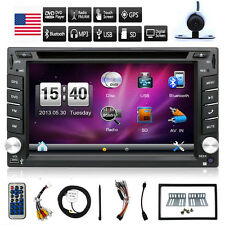 "6.2"" Double 2DIN GPS Navigator Car DVD Player Bluetooth Mp3 In Dash Stereo Radio"