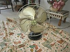 "Antique Vintage Signal 12"" Blade Oscillating Fan Model 350A Works - 3 Speeds"