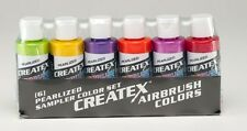 Createx Pearlized Sampler Set of Six 2 oz Water-Based Airbrushing Craft Paints