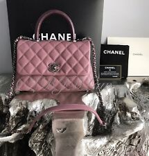 NWT CHANEL CoCo Handle Pink Caviar Mini KELLY Flap Burgundy Lizard DETACHABLE