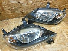 2002 2005 MAZDA DEMIO DY3W DY5W BLACK HOUSING HEADLIGHT SET FACTORY OEM