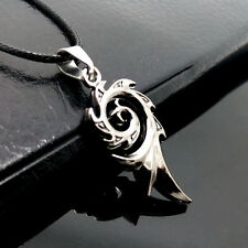 Vogue Personality Stainless Steel Black phoenix pendants necklace MM156