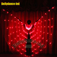USA! Led isis wings rechargeable belly dance dancer show 126 lights red