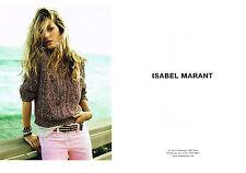 PUBLICITE  2011   ISABEL MARANT  haute couture ( 2 pages)