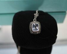Pendant Sterling Silver Syn Topaz & Marcasite with 40cm chain BNWT value $225