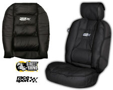 Ford Capri Universal Race Sport Black Cushioned Front Seat Cover